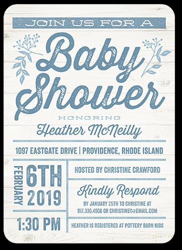 Arrival Grid Boy 5x7 Baby Shower Invitation Cards Shutterfly