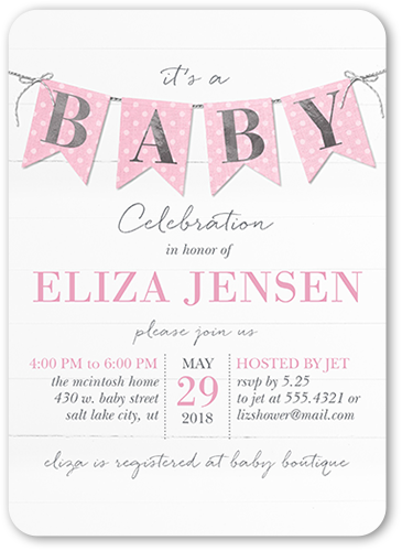 5x7 Custom Baby Shower Invitations