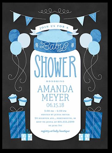 Simple Bottle Boy 5x7 Custom Baby Shower Invitations Shutterfly