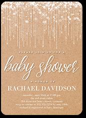 string lights kraft baby shower invitation 5x7 flat