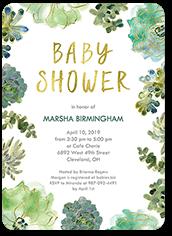 splendid succulents baby shower invitation