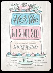sweetly revealed baby shower invitation