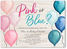 which balloon baby shower invitation