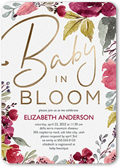 baby in bloom baby shower invitation