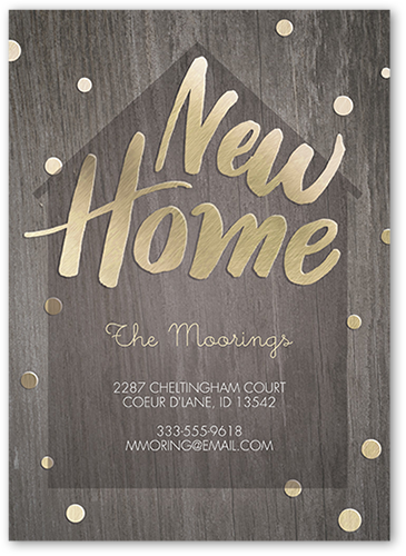 Wooden New Home 5x7 Moving Announcement Cards Shutterfly