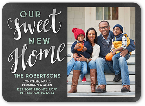 Sweet New Home Moving Announcement, Rounded Corners