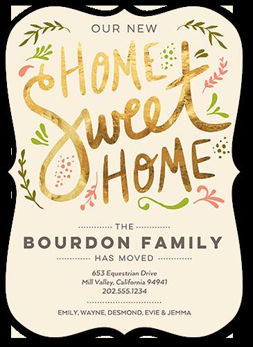 Elegant Sweet Home Moving Announcement, Bracket Corners