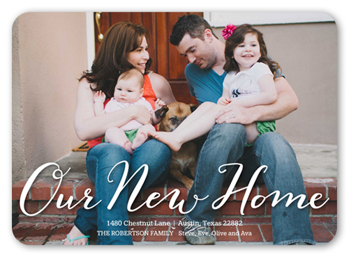 New Home Script 5x7 Moving Announcements Shutterfly