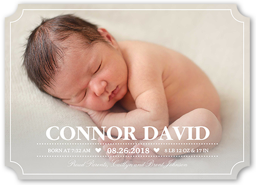 Little Sweetheart Birth Announcement