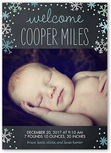 Flurry Of Love Boy Birth Announcement