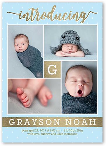Precious Introduction Boy Birth Announcement