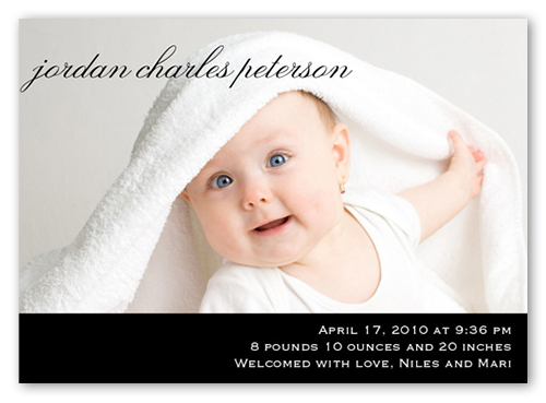 Plainly Perfect Black Birth Announcement