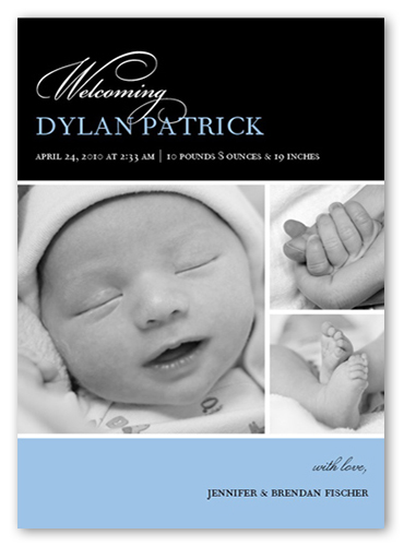 Bella Baby Blue Birth Announcement