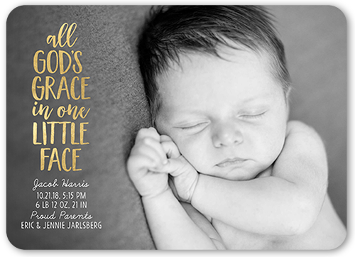God's Grace Birth Announcement, Rounded Corners