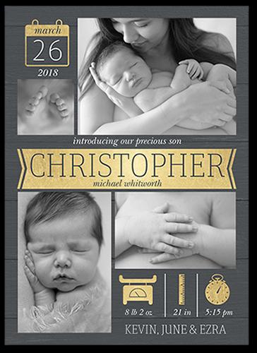 Banner Newborn Birth Announcement