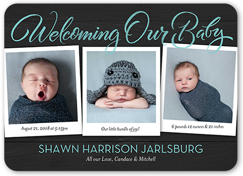Welcoming Our Boy Birth Announcement
