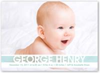 announcing baby boy birth announcement 5x7 flat
