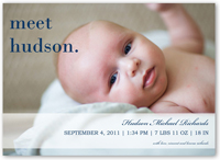 meet mr blue birth announcement 5x7 flat