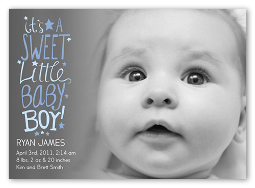 Sweet Scribbles Boy Birth Announcement Announcements – Boy Birth Announcement