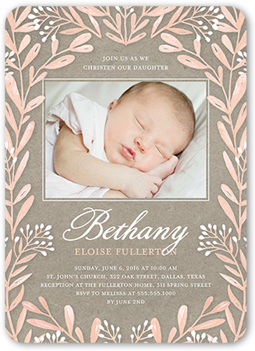 Girl Baptism Invitations Shutterfly