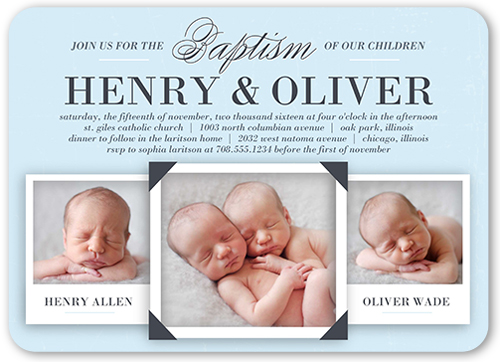 precious twin boys 5x7 baptism invitations shutterfly