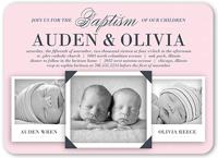 precious twin girls baptism invitation 5x7 flat