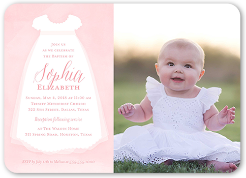 Little Christening 5x7 Stationery Card By Stacy Claire Boyd Shutterfly