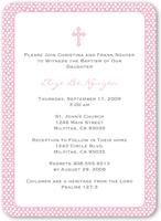 pink sprinkles baptism invitation 5x7 flat