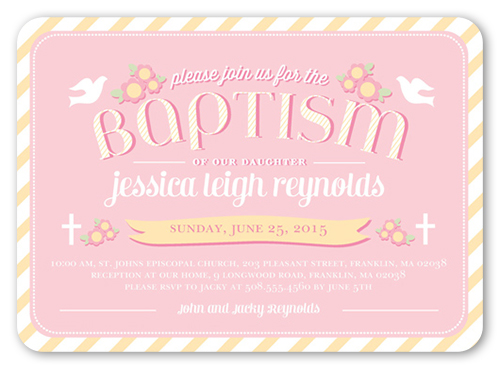 Loving Doves Girl Baptism Invitation by pottsdesign