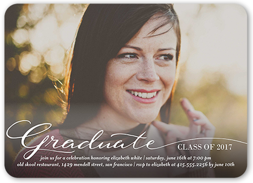 This Moment Graduation Invitation, Rounded Corners