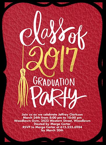 Shining Graduate Graduation Invitation, Square