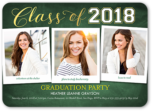 Notable Accomplishment Graduation Invitation, Rounded Corners
