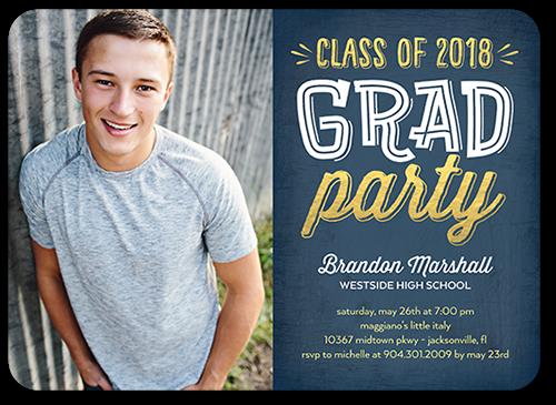 Upbeat Grad Graduation Invitation, Rounded Corners