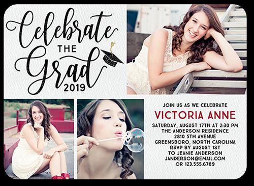 Celebratory Script 5x7 Graduation Party Invitations