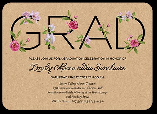Elegant Alumni 5x7 Graduation Party Invitation