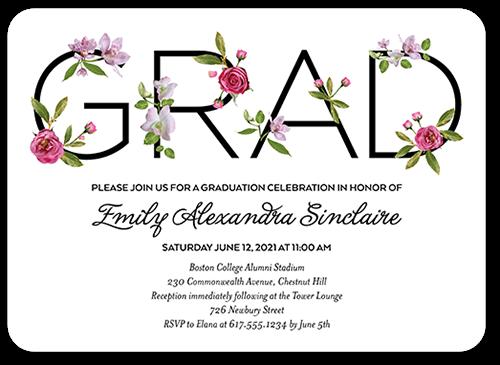 Elegant Alumni Graduation Invitation, Rounded Corners