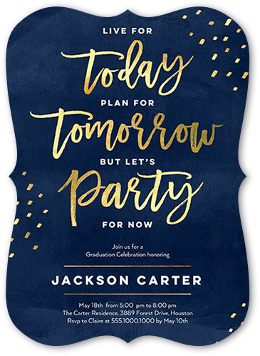 Party For Now Graduation Invitation, Bracket Corners