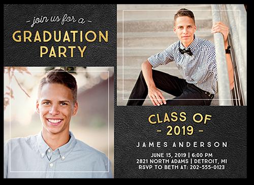 Extraordinary Alumni Graduation Invitation, Square Corners