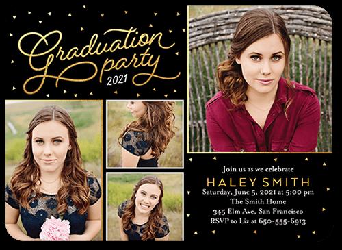 Charming Year 5x7 Graduation Party Invitations