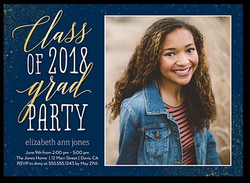 Sparkling Class Graduation Invitation, Square Corners