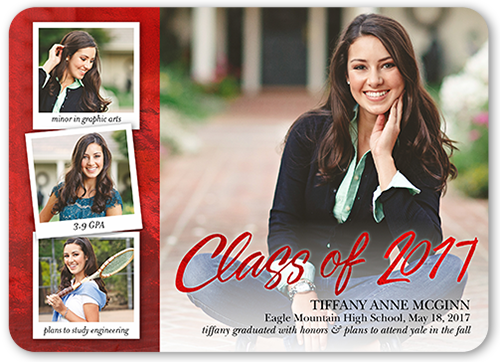 Gleaming Perfection Graduation Announcement