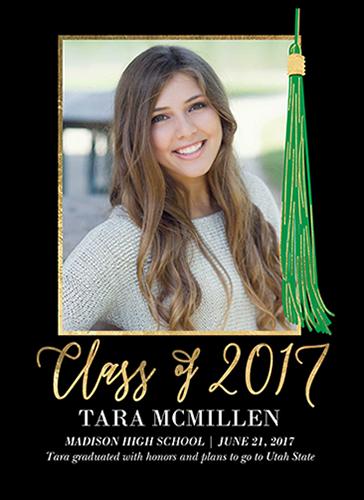 Fantastical Tassel Graduation Announcement