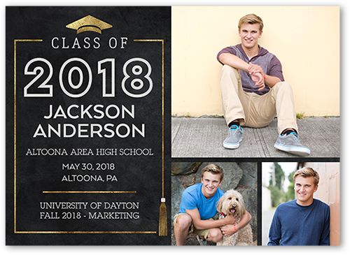 Framed Tassel Graduation Announcement