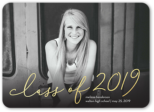 Gradient Class Overlay Graduation Announcement