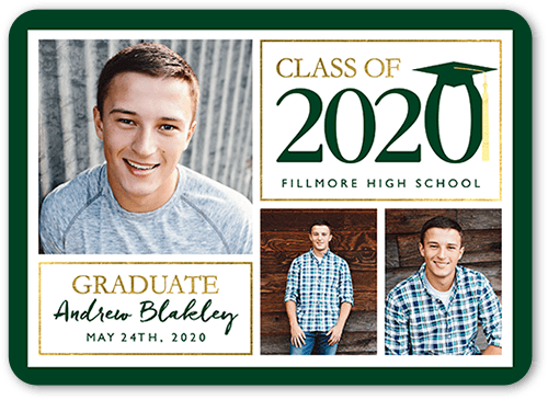 Noble Class Grad 5x7 Graduation Announcements