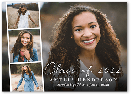 Filmstrip Classic Graduation Announcements Yours Truly