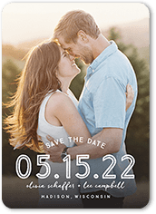 gradient love save the date