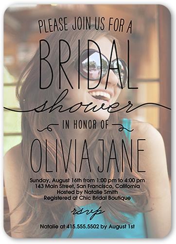 Every Last Detail Bridal Shower Invitation