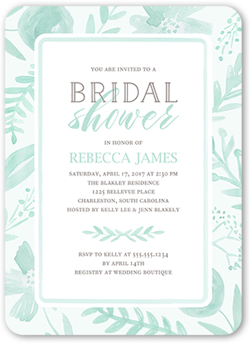 painted botanicals bridal shower invitation by stacy claire - Wedding Shower Invites