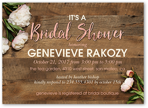 Flowering Perfection 5x7 Bridal Shower Invitations Shutterfly